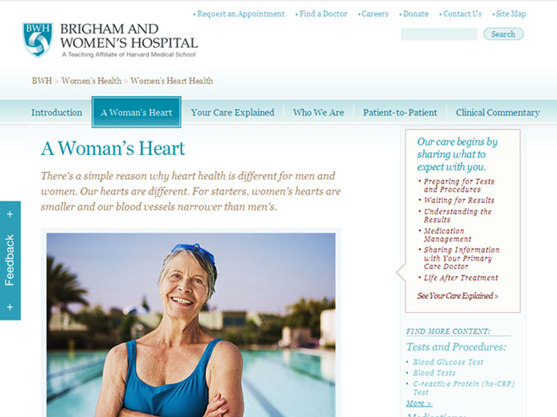 BWH website